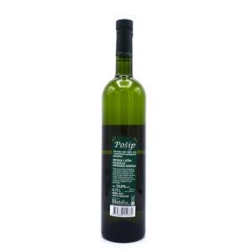 Pošip is een wijn uit Kroatië van topkwaliteit,achterkant van de fles