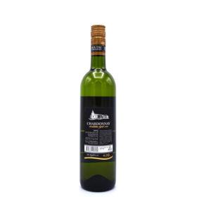 Chardonnay uit Kroatië, achterkant van de fles