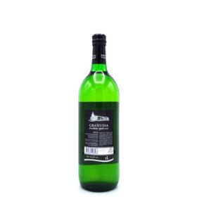 Graševina uit Kroatië 1L, achterkant van de fles