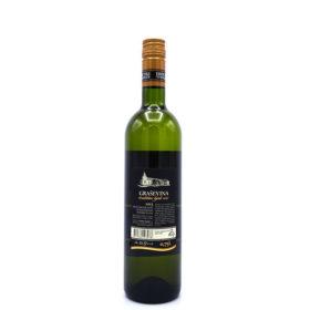 Graševina uit Kroatië, achterkant van de fles