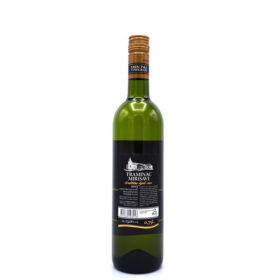 Traminer uit Kroatië, achterkant van de fles