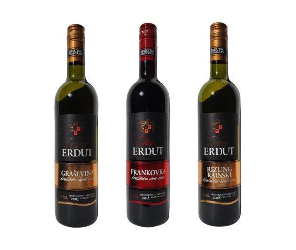Proefpakket 3 flessen bijzondere Kroatische wijn voorkant