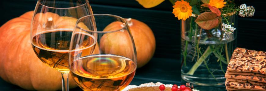 Pompoen en wijn
